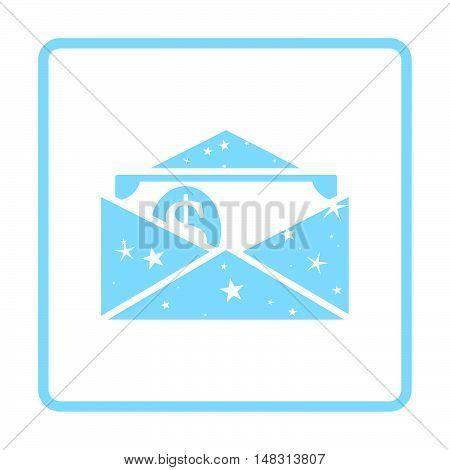 Birthday Gift Envelop Icon With Money