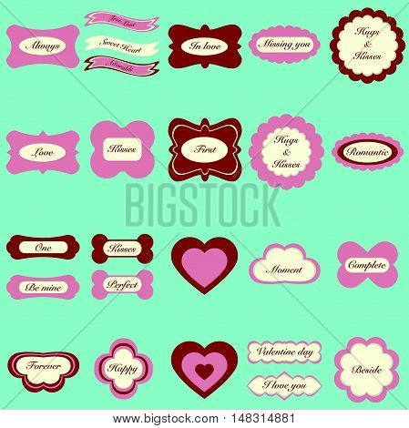 Happy Valentine Day Sticker Set