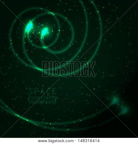 Space background vast expanses of the universe. Vector illustration.