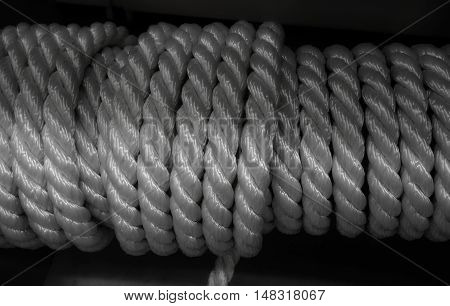 Rolled composite cord macro shot texture background