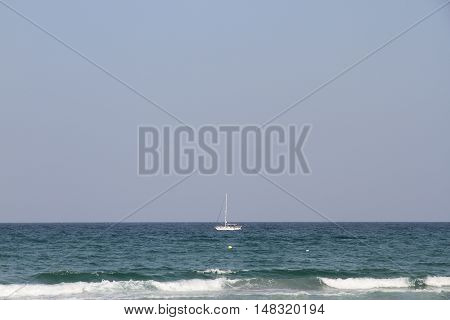 view of a catamaran plying the sea