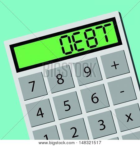Debt Calculator Calculating Machine
