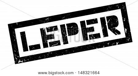 Leper Rubber Stamp