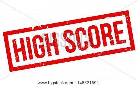 High Score Rubber Stamp