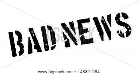 Bad News Rubber Stamp