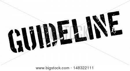 Guideline Rubber Stamp