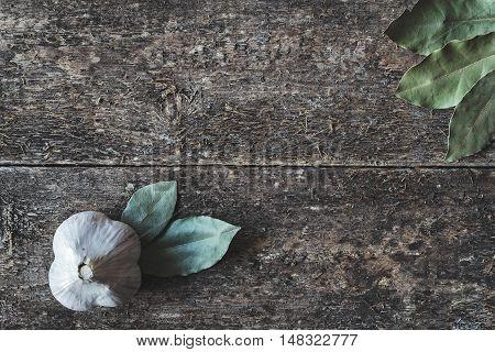 Garlic And Bay Leaf