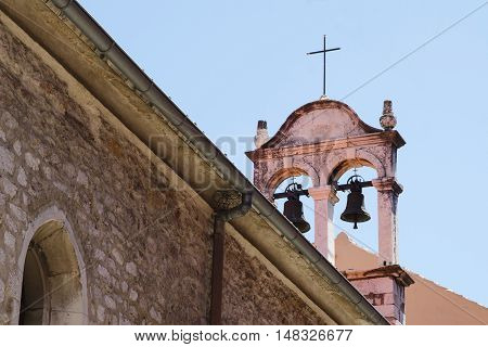 Close Up Of Old Christian Tower Bells.
