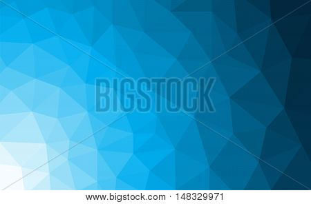 Blue polygonal mosaic background with gradient. Vector illustration