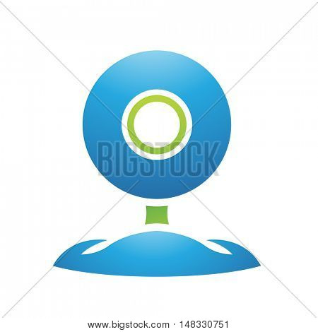 Illustration of PC Accessories Web Cam isolated on a white background