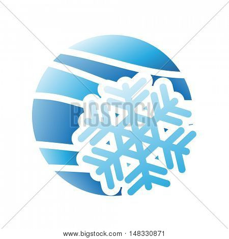 Illustration of Winter Season Icon isolated on a white background