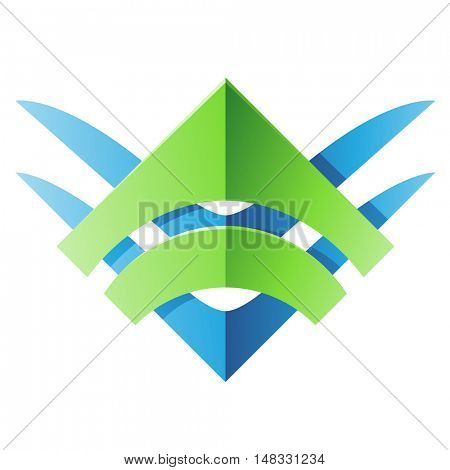 Illustration of Blade Shaped Abstract Icon isolated on a white background