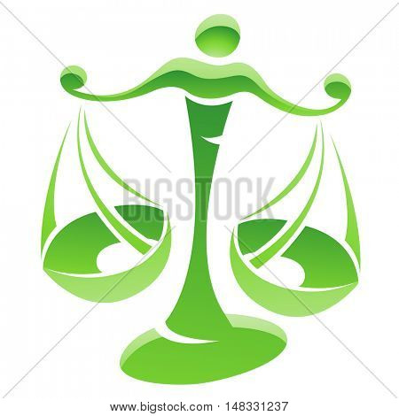 Illustration of Libra Zodiac Star Sign isolated on a white background