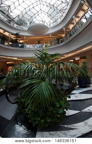 DUBAI, UAE - 12 August 2016: Mall of the Emirates in Dubai, UAE.