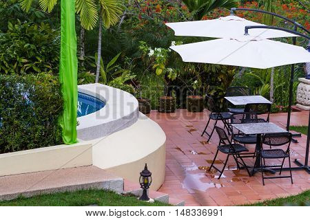 Lounge Area In The Rain Forest