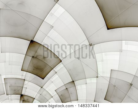 Abstract composition with circular checkered pattern. Colorful decorative texture for use in design projects as background or as distinct design element. Radial movement of colors and shapes.