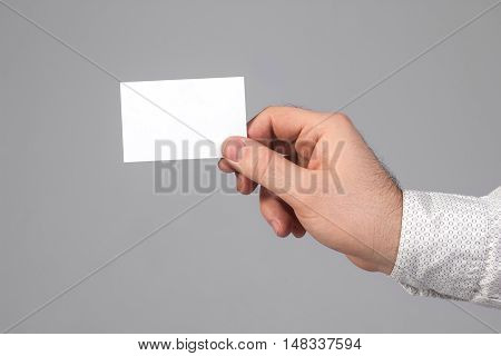 Holding blank business card. Branding, brand, template, identity, design, Business Card, business, envelope, print, mock-up, mock up, mockup.