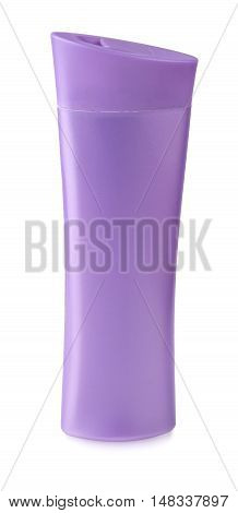 close up of a pink bottle on white background with clipping path