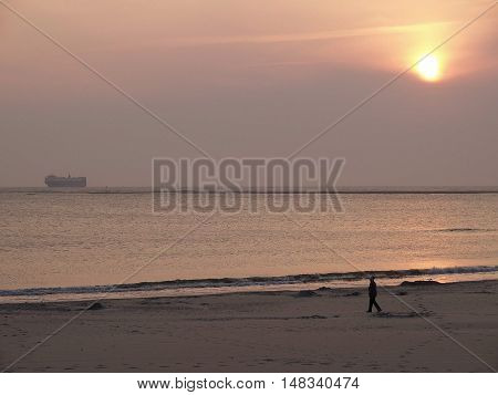 the Island of Borkum in the North sea