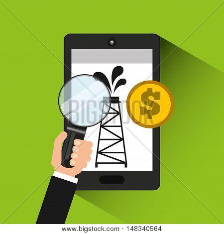 oil prices online industry vector illustration design