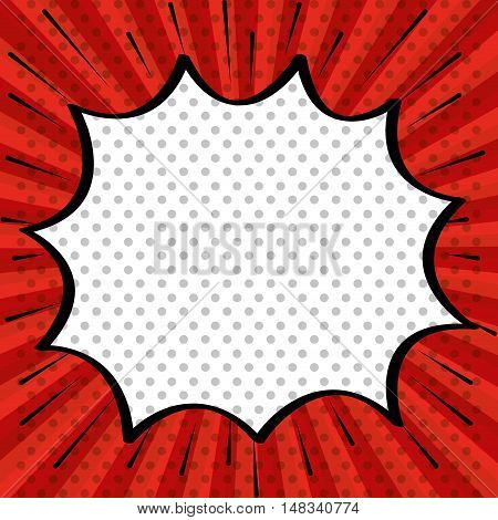 pop art cloud speak red background design vector illustration eps 10