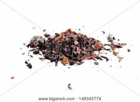 Red Berry Herbal Tea (tisane) With Rooibos - Isolated