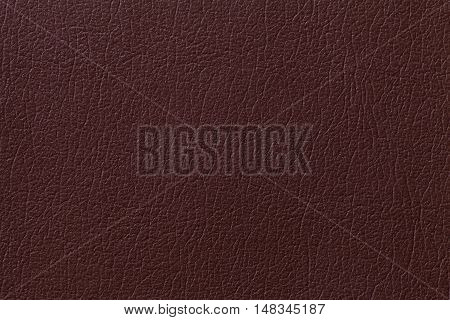 Dark brown leather texture background with pattern closeup.