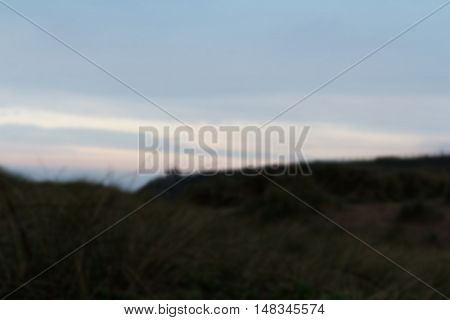 View From The Sand Dunes At First Light Out Of Focus.