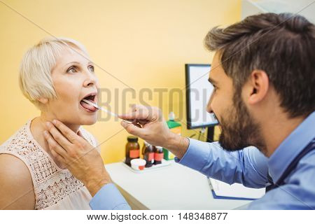 Doctor examining a patient at the hospital