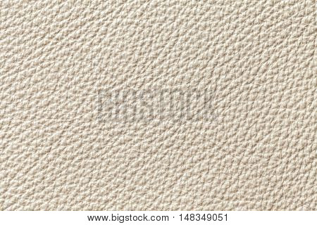 Bright Pearl leather texture background with pattern closeup.