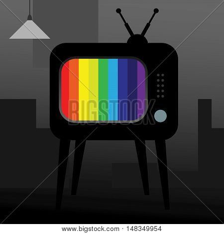 Abstract TV over gray background. vector illustration