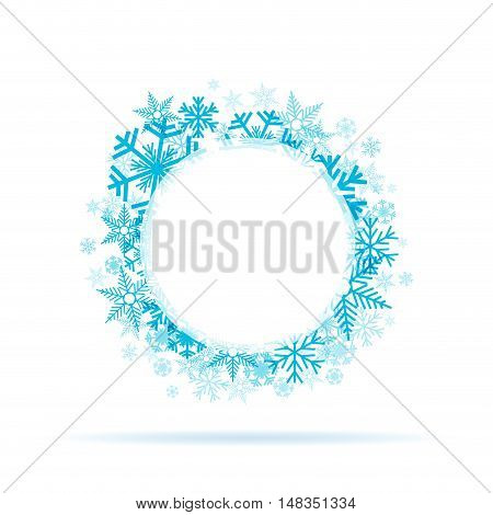 Vector Winter Background  blue ice and snow