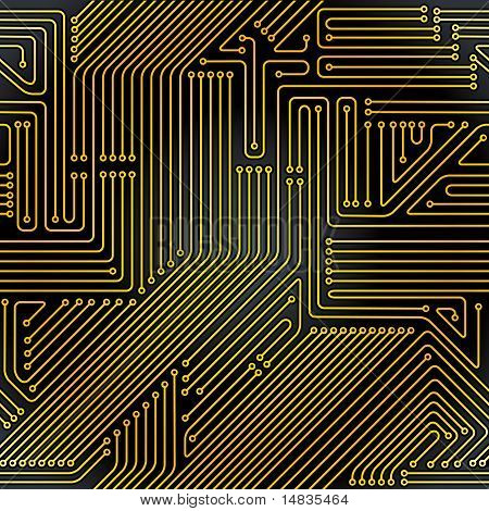 Computer circuit board pattern.
