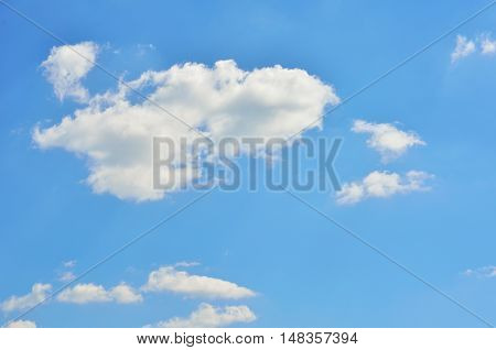 Clear blue sky with beautiful white clouds