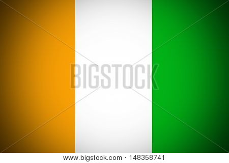 Cote d'ivoire flag ,Original and simple Ivory Coast flag