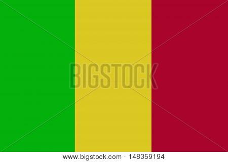 Mali flag ,original and simple Mali flag