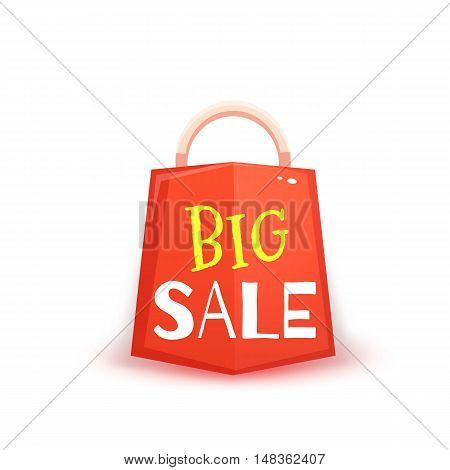 Big sale banner with red packet. Vector illustration.