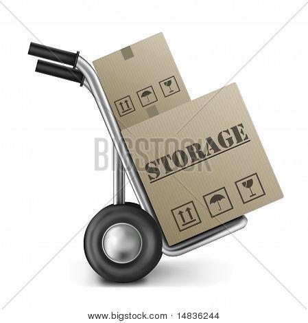 Storage Cardboard Box Hand Truck