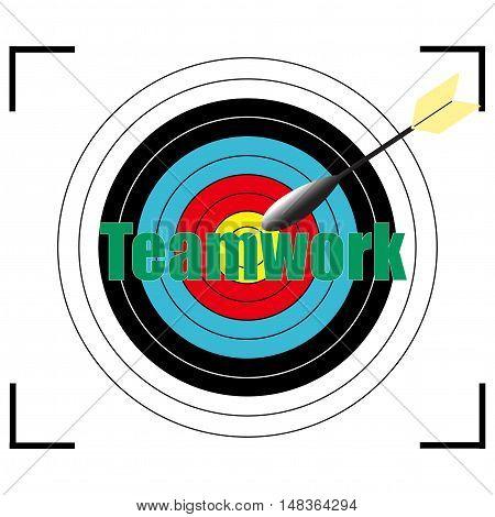 Teamwork word Vector EPS 10, business concept.
