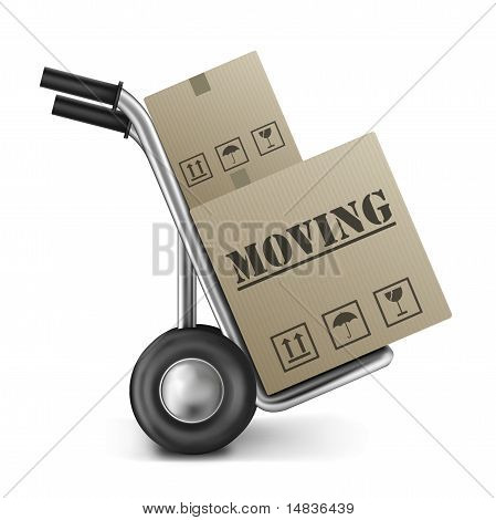 Moving Cardboard Box Hand Truck
