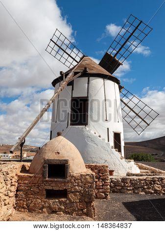 Old windmill in Antigua village Fuerteventura Canary Islands Spain