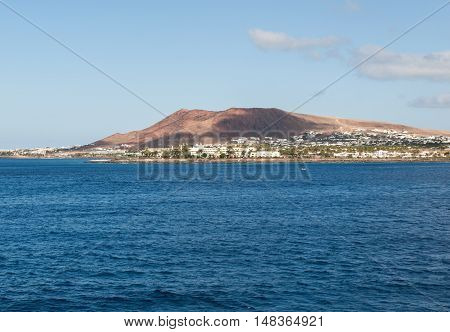 Playa Blanca on Lanzarote. Canary Island .Spain