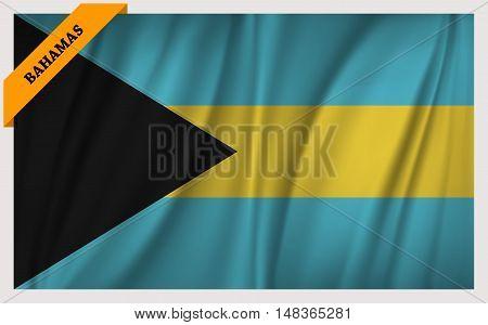 National flag of Bahamas - waving edition