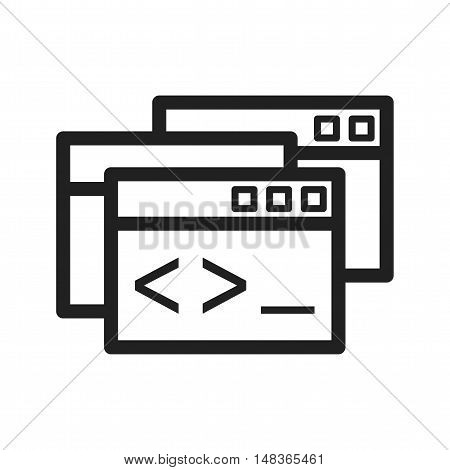 Programming, windows, web icon vector image. Can also be used for software development. Suitable for use on web apps, mobile apps and print media.