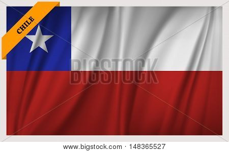 National flag of Chile - waving edition