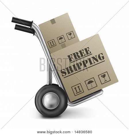 Caja de cartón de envío gratuito