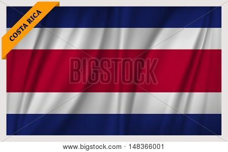 National flag of Costa Rica - waving edition