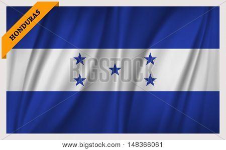 National flag of Honduras - waving edition