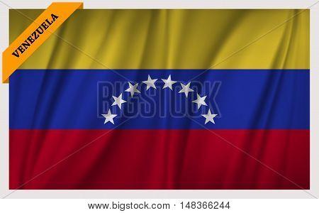 National flag of Venezuela - waving edition