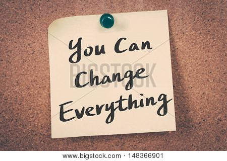 You can change everything. Note pin on the bulletin board.